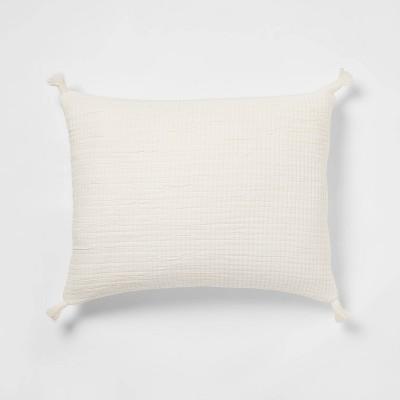Standard Double Cloth Quilt Sham Cream - Threshold™