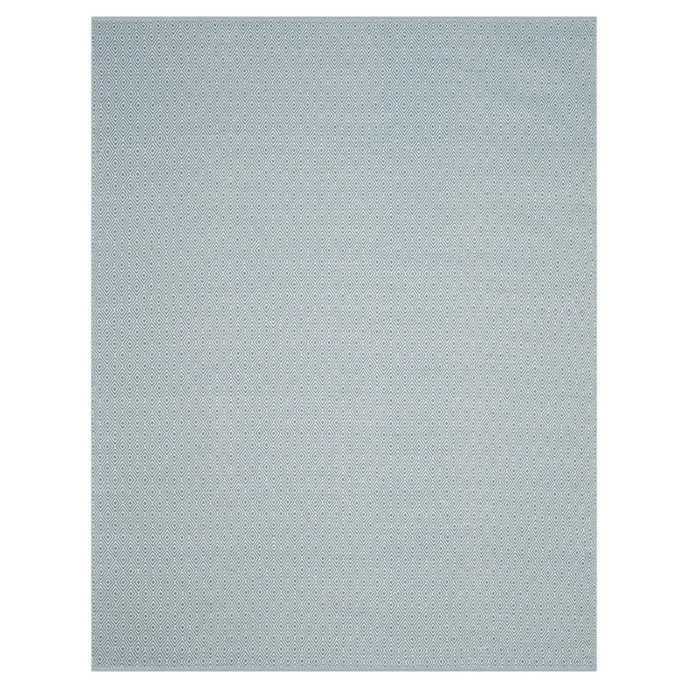 Ivory/Light Blue Stripe Flatweave Woven Area Rug - (9'X12') - Safavieh