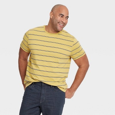 Men's Big & Tall Striped T-Shirt - Goodfellow & Co™ Weathered Yellow