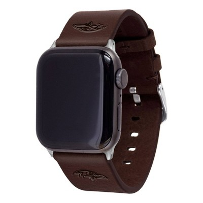 NFL Baltimore Ravens Apple Watch Compatible Leather Band 42/44mm - Brown