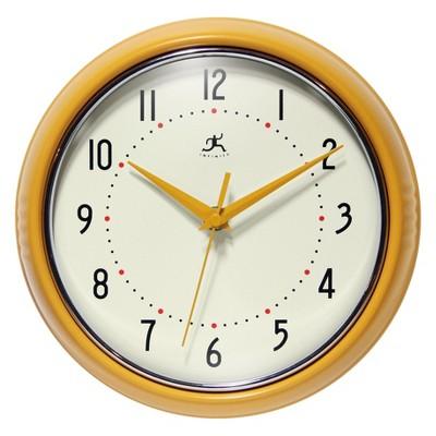 Infinity Instruments Round Wall Clock Yellow