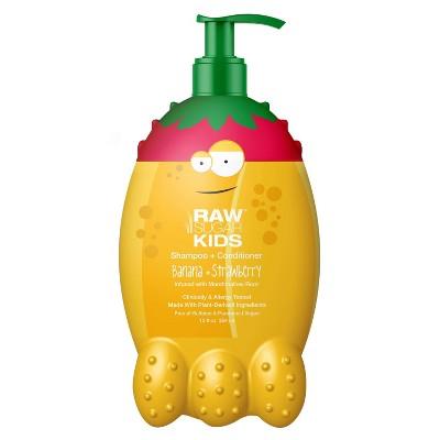 Raw Sugar Kids' 2-in-1 Banana + Strawberry Shampoo & Conditioner - 12 fl oz