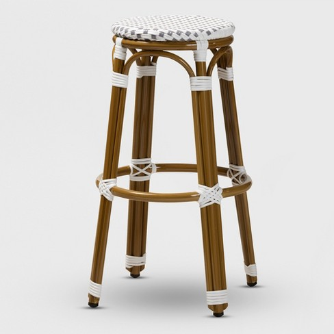 Swell Joelle Indoor And Outdoor Stackable Bistro Bar Stool Baxton Studio Theyellowbook Wood Chair Design Ideas Theyellowbookinfo