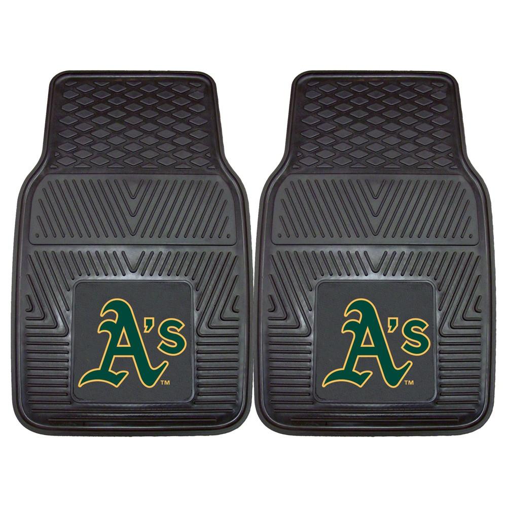 MLB Oakland Athletics 2pc Vinyl Car Mats 17