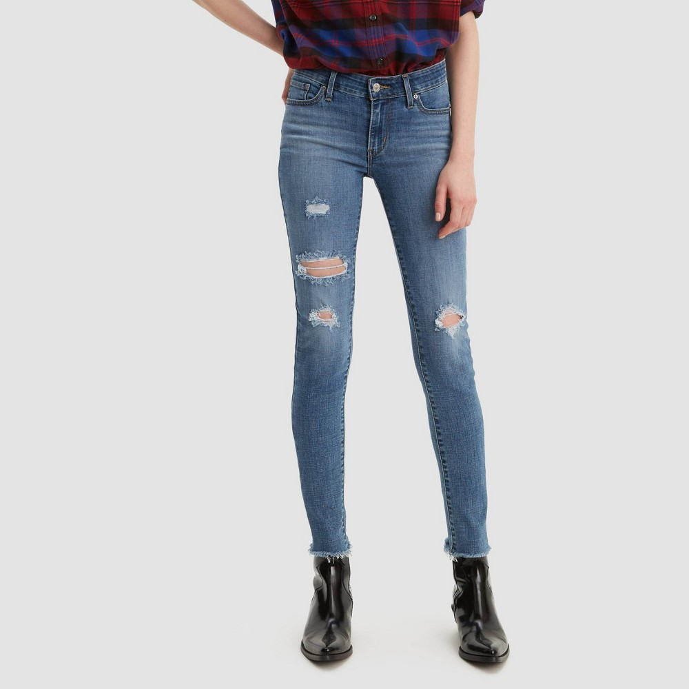 Levi's Women's 711 Mid-Rise Skinny Jeans - Hawaii Blue 32x30 was $49.99 now $39.99 (20.0% off)