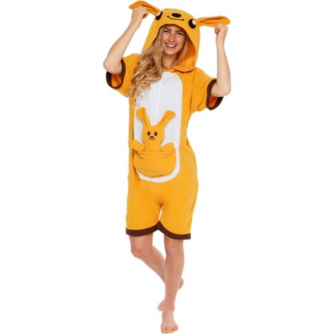 Funziez! Kangaroo Women's Short Sleeve Novelty Romper - image 1 of 4