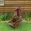 """24"""" Vintage Red Water Pump With Wheelbarrow Fountain Small - Alpine Corporation - image 3 of 3"""