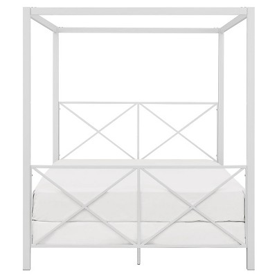 Queen Riley Canopy Bed White - Room & Joy