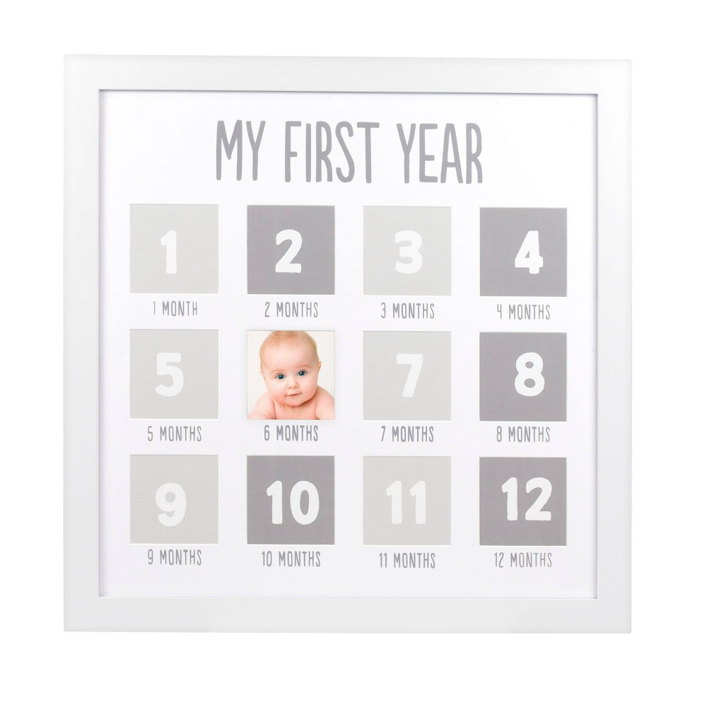 Image of Pearhead First Year Photo Frame - White