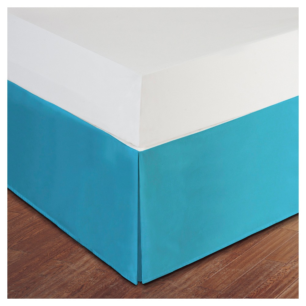 Image of Turquoise Tailored Microfiber 14 Bed Skirt (Twin)