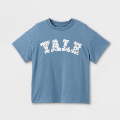 Girls' Yale Boxy Graphic Short Sleeve T-Shirt - art class™ Blue