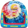 CWB Connelly Super Fun 2 Person 2 Way 66x66 Inch Hybrid Inflatable Pull Behind Boat Towable Water Inner Tubing Tube, Tie Dye - image 2 of 3