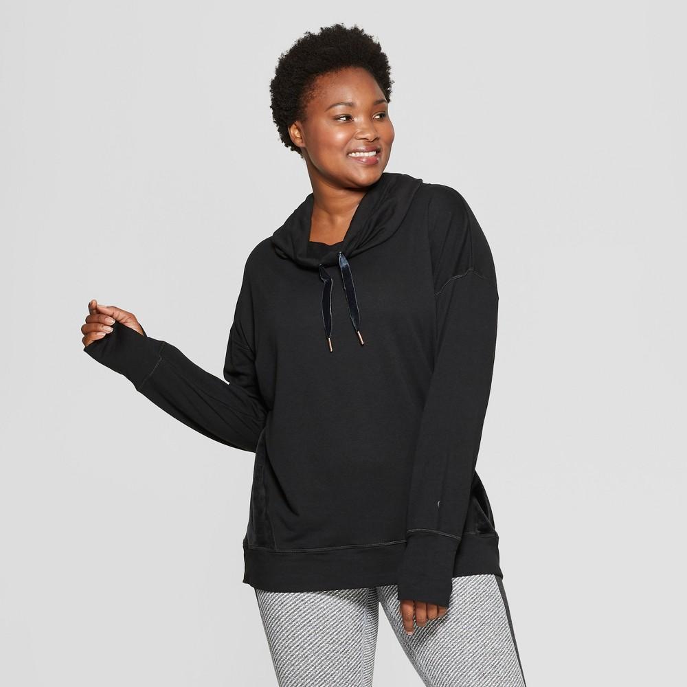 Women's Plus Size Cozy Fleece Pullover - C9 Champion Black 1X