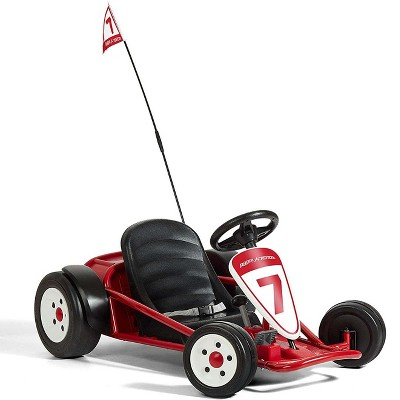 Radio Flyer 940Z 12V Battery-Powered Adjustable Kids Ultimate Outdoor Go-Kart with Rubber Wheels, Red