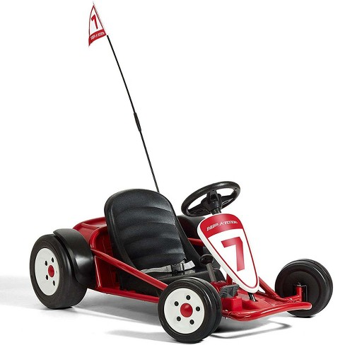 Radio Flyer 940Z 12V Battery-Powered Adjustable Kids Ultimate Outdoor Go-Kart with Rubber Wheels, Red - image 1 of 4
