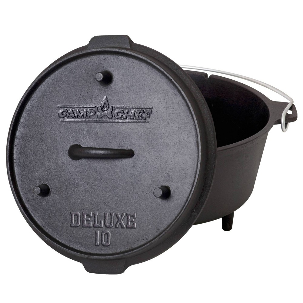 "Image of ""Camp Chef 10"""" Cast Iron Deluxe Dutch Oven - Black"""