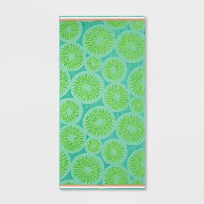 XL Kiwi Beach Towel Green - Sun Squad™