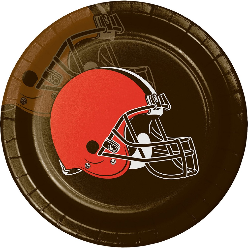8ct Cleveland Browns Paper Plates, Multi-Colored