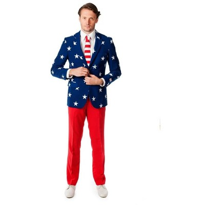 Suitmeister Stars and Stripes Men's Costume Suit