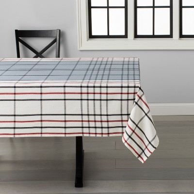 Plaid Tablecloth Black/Gray/Red - Hearth & Hand™ with Magnolia