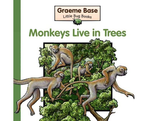 Monkeys Live in Trees : A Fold-out Book of Animal Homes (Hardcover) (Graeme Base) - image 1 of 1