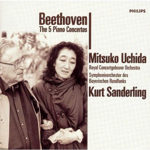 Beethoven, Ludwig van; Uchida, Mitsuko; Sanderling, Kurt - Beethoven: The 5 Piano Concertos (CD) - image 1 of 2