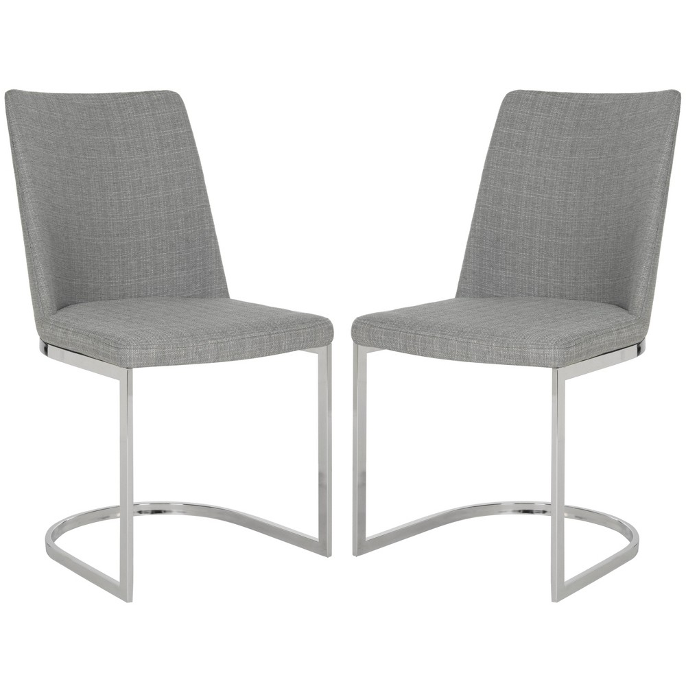 Parkston Side Dining Chair - Linen Gray (Set of 2) - Safavieh