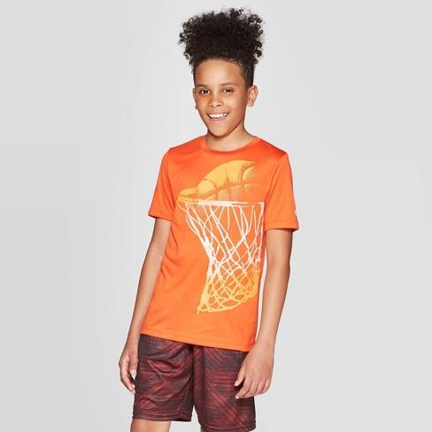 Boys' Graphic Tech T-Shirt Baller - C9 Champion® Orange - image 1 of 3