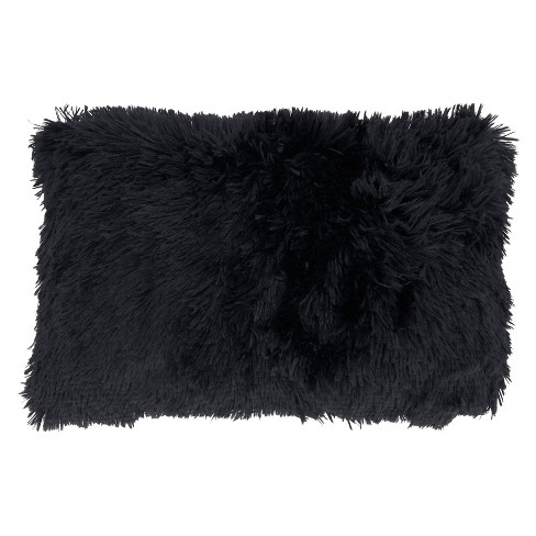 Classic Down-Filled with Faux Fur Design Throw Pillow - Saro Lifestyle - image 1 of 4