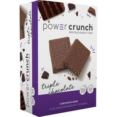 Power Crunch Protein Energy Bar - Triple Chocolate - 5pk/7oz