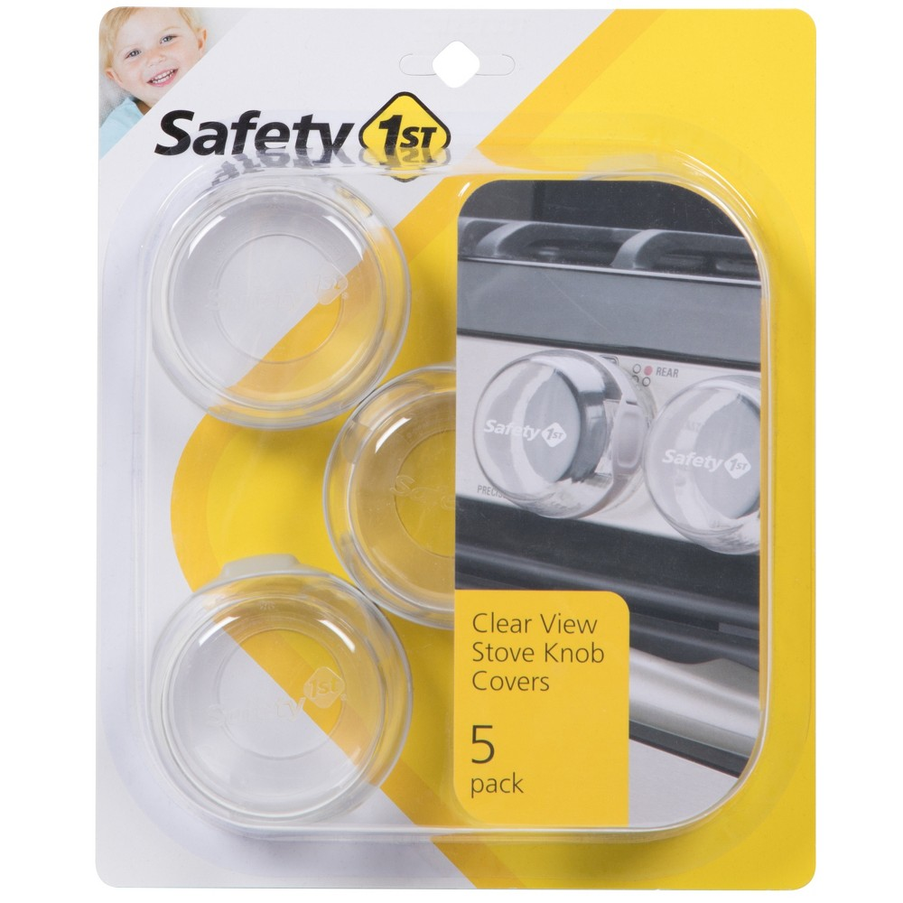 Image of Safety 1st Clear View Stove Knob Covers 5pk