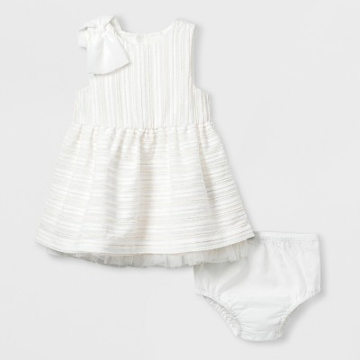 Baby Girls' Woven A-Line Dress - Cat & Jack™ White 3-6M