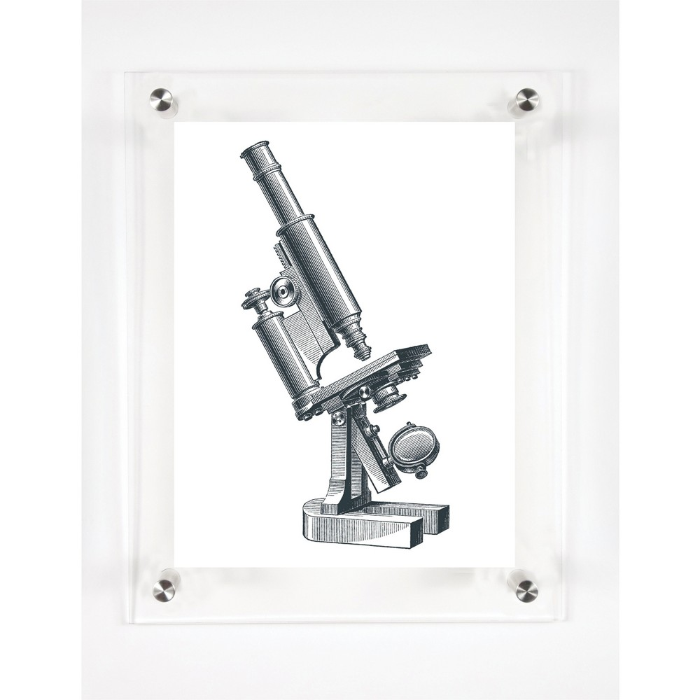 Mitchell Black Microscope Decorative Framed Wall Canvas (12