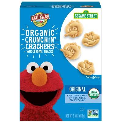 Earth's Best Organic Toddler Snacks Crunchin' Crackers - 5.3oz