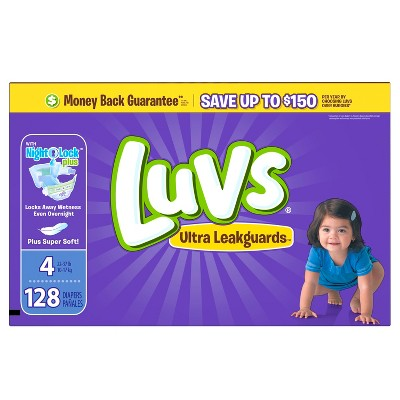 Luvs Diapers, Value Pack - Size 4 (128 ct)