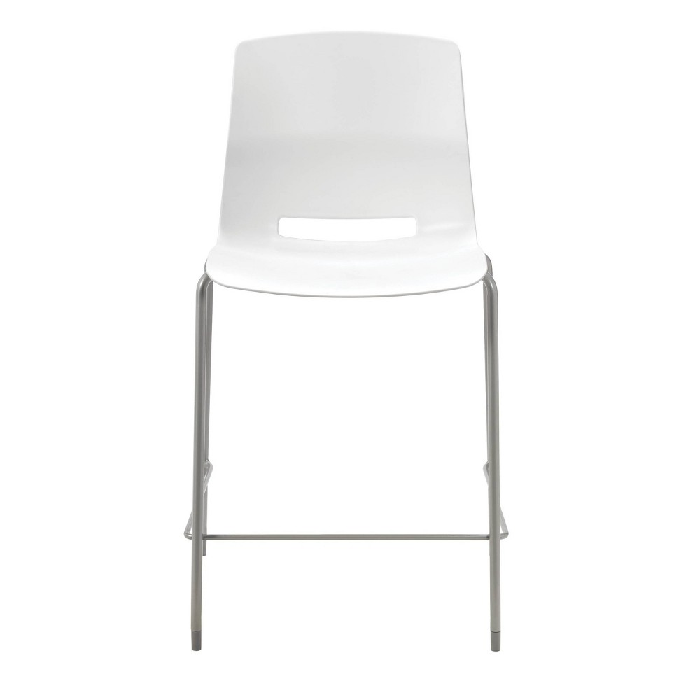 "Image of ""25"""" Lola Stacking Office Counter Stool White - Olio Designs"""