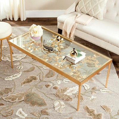 Charmant Rosalia Butterfly Coffee Table   Antique Gold Leaf   Safavieh®