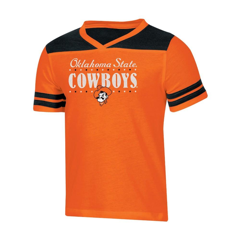 NCAA Girls' Heather Fashion T-Shirt Oklahoma State Cowboys - XL, Multicolored