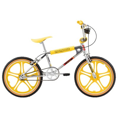 "Mongoose Stranger Things 3 Freestyle 20"" Kids' Bike- Silver/Yellow"