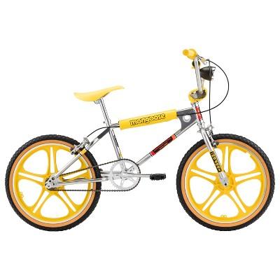 """Mongoose Stranger Things 3 Freestyle 20"""" Kids' Bike- Silver/Yellow"""