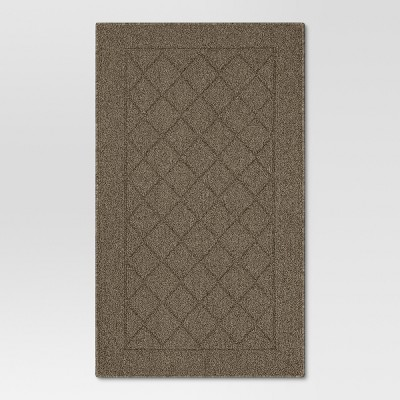 1'8 X2'6  Diamond Tufted And Hooked Washable Accent Rug Brown - Threshold™