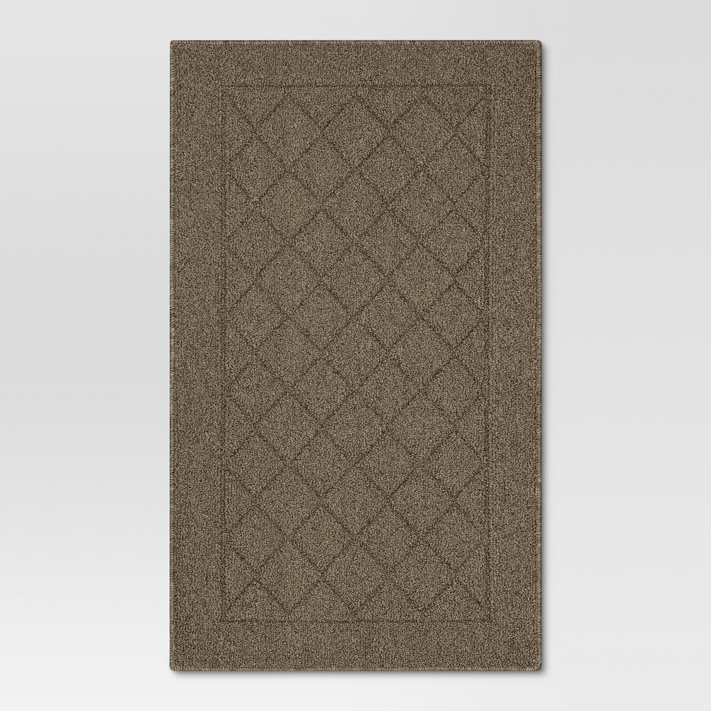 Diamond Clarkson Washable Tufted And Hooked Accent Rug Brown