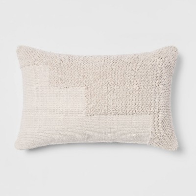 Modern Tufted Lumbar Throw Pillow Cream - Project 62™