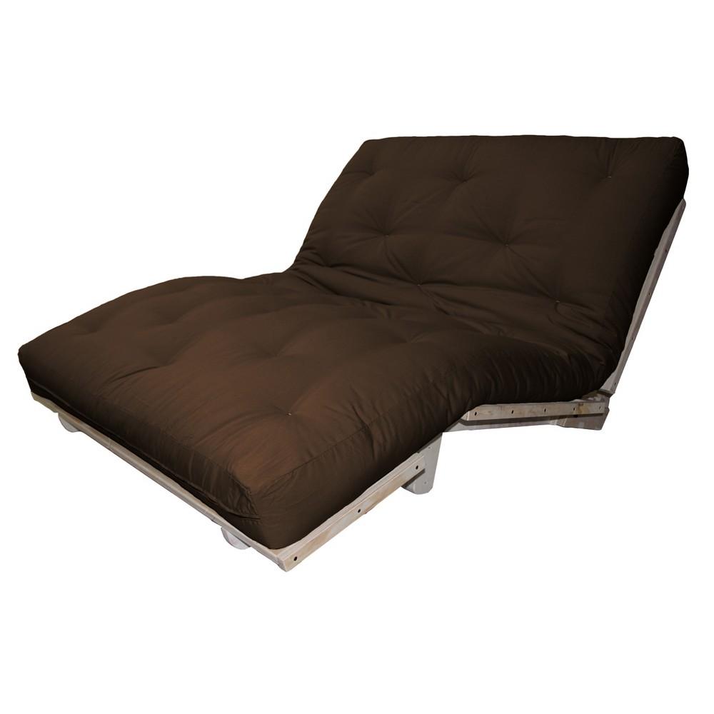6 Austin True Cotton/Foam Sit, Lounge, or Sleep Futon Sofa Sleeper Bed Suede Fabric Navy (Blue) - Epic Furnishings