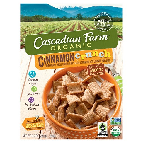 Cascadian Farm Organic Cinnamon Crunch Breakfast Cereal - 9.2oz - image 1 of 4