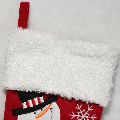 northlight 16 red and white embroidered snowmen letter to santa christmas stocking