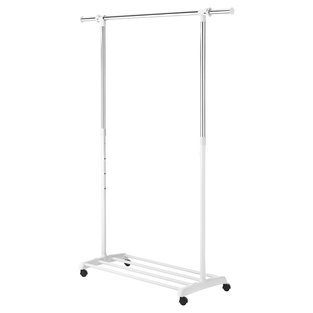 Image of Whitmor Deluxe adjustable Garment Rack - White