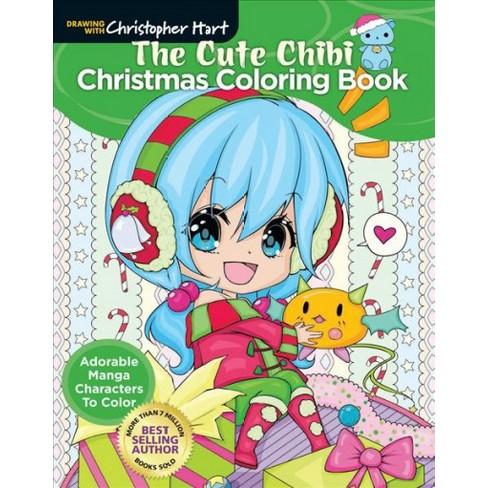 Cute Chibi Christmas Coloring Book : Adorable Manga Characters To ...