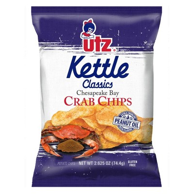 Utz Kettle Classics Chesapeake Bay Crab Flavored Chips - 2.875oz