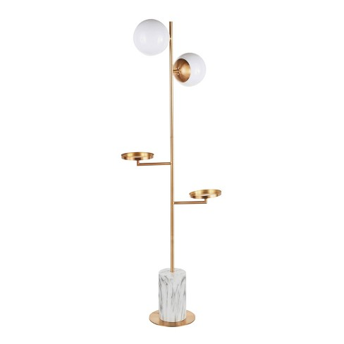 Butler Contemporary/Glam Floor Lamp with Metal Marble Base Gold (Includes LED Light Bulb) - LumiSource - image 1 of 4